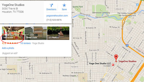 Your Business View tour will appear in Google Maps - vista360